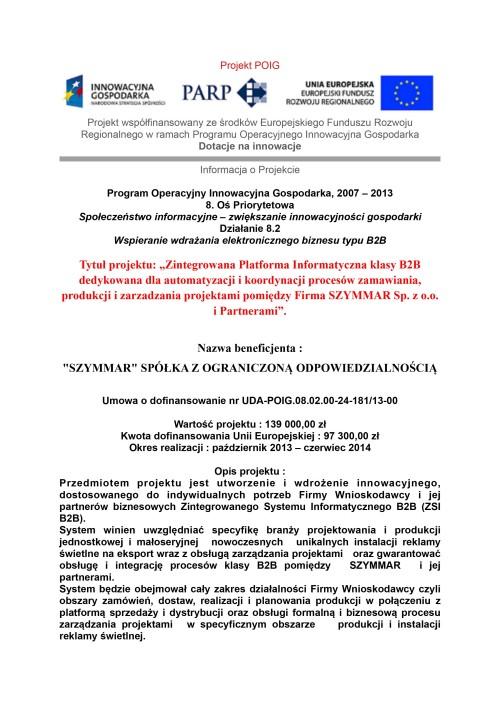 +SZYMMAR Projekt PO IG 8-2 - tablica duża na strone WWW